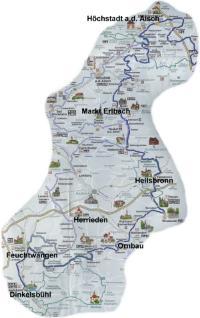 Karte des Karpfenwegs