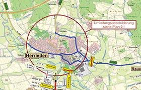 Sperrung der Staatsstraße St2248 von Leibelbach nach Häuslingen