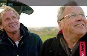 Norbert Froemel mit Roboflight bei Markus Wasmeier am Limes
