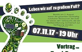 Vortrag zum Ökologischen Fußabdruck in der Grund- und Mittelschule