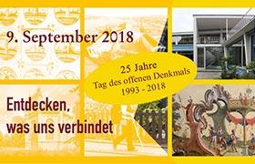 25 Jahre Tag des offenen Denkmals 1993 - 2018