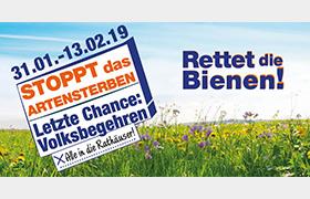 """Volksbegehren 2019 """"Rettet die Bienen!"""""""