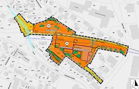 """Öffentliche Auslegung des Entwurfs des Bebauungsplans mit integriertem Grünordnungsplan Nr. 20 """"Steinweg"""""""