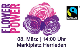 Faire Rosenaktion am Marktplatz