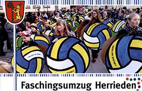 Herrieder Faschingsumzug um 13:33 Uhr am 09.02.2016