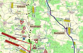 Sperrung der Staatsstraße 2248 Häuslingen-Wieseth