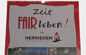 Film- und Fotoclub & Steuerungsgruppe: Fairtrade Stadt den Herrieder Kalender 2020