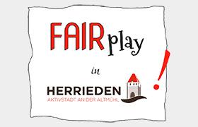 """""""Fairplay"""" lautet das neue Jahresmotto der Fairtrade Stadt Herrieden für 2020"""