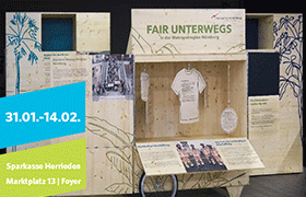 "Wanderausstellung ""fair unterwegs"" in Herrieden"