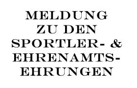 Sportler-/Ehrenamtsehrung 2021