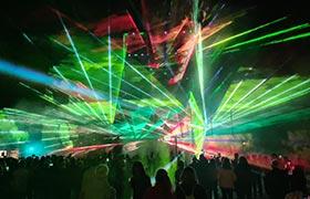 Lasershow bei Herrieder Stadt-Kirchweih