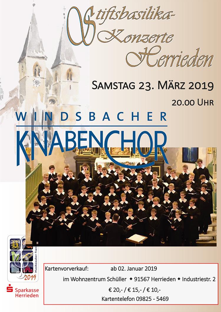 Kartenvorverkauf Windsbacher Knabenchor