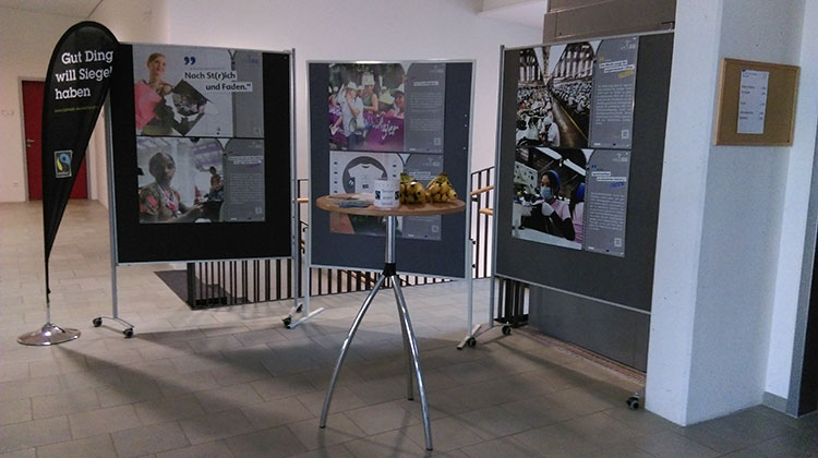 Ausstellung Faire Textilien