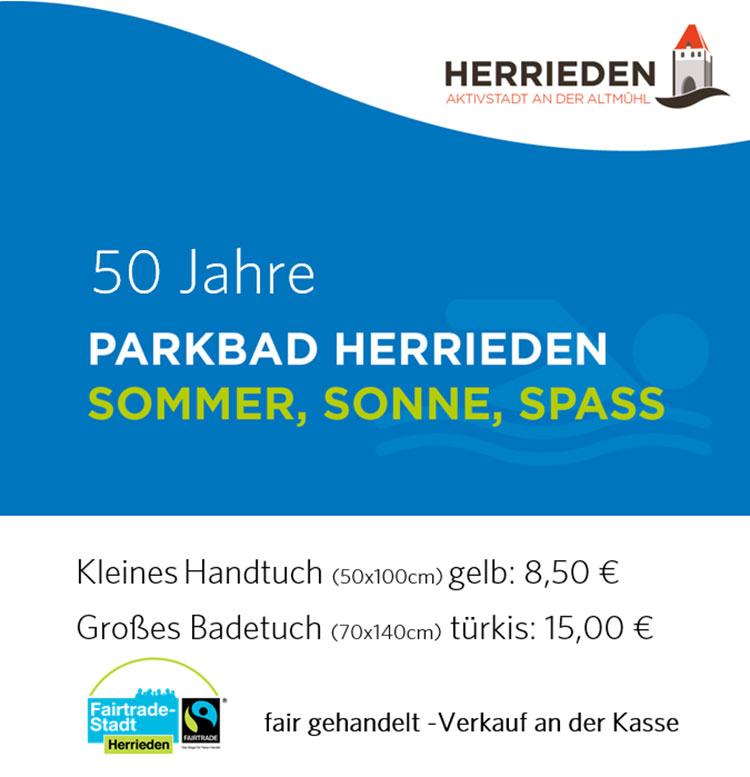 Aktion Faires Handtuch 50 Jahre Parkbad