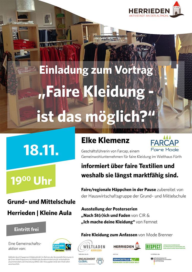 Vortrag faire Kleidung Herrieden