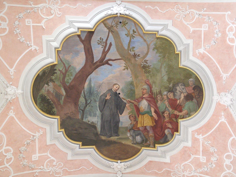 Darstellung Karl der Große besucht Abt Deocar