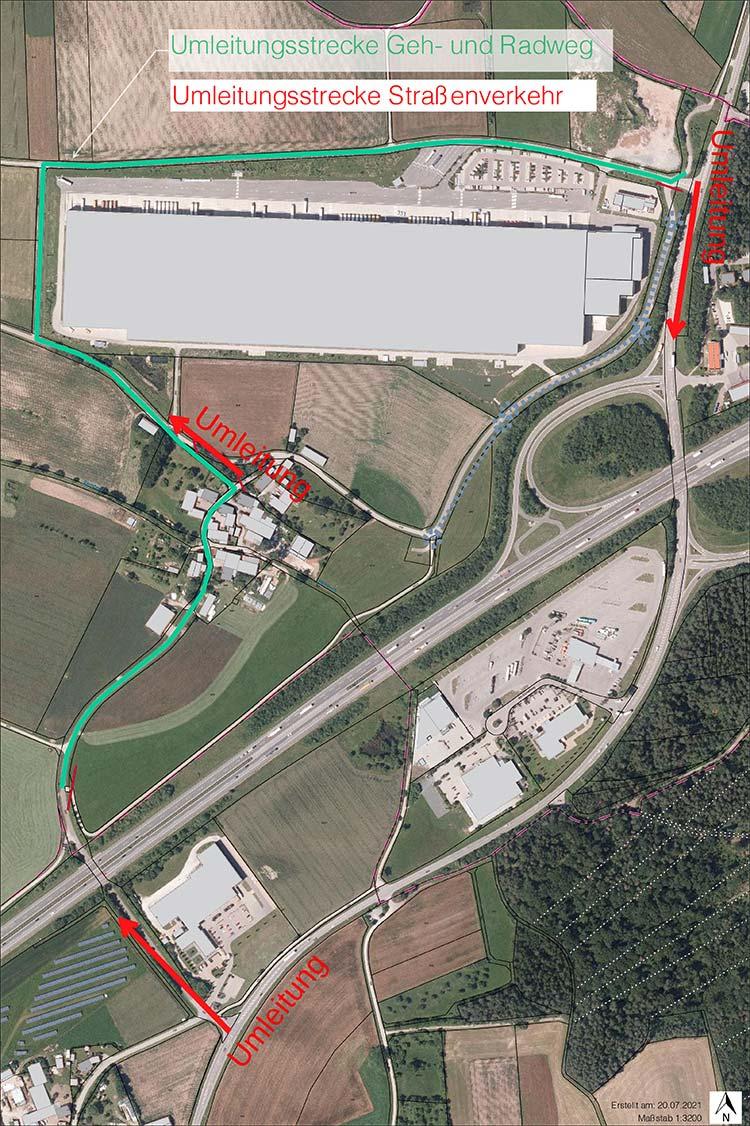 Karte Umleitung Esbach Playmobil