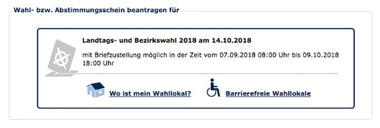 Landtags- und Bezirkswahl 2018